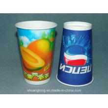 16oz copo de papel (copo frio / quente) copos de café bebendo, copos da bebida fria