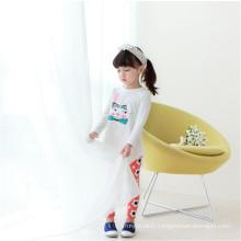 Autumn Girls White T-shirts Long Tail T Shirt, Plain No Brand T-shirt Dress For Kids