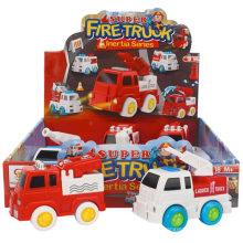 Box Package inércia brinquedo de caminhão de bombeiros