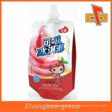 2015 venda quente do suco da venda 85ml ou saco do bico do gelado para o bebê com qualidade superior