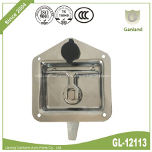 Cerradura de panel de acero Pestillo de manija en T de montaje al ras