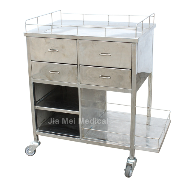 Medical trolley with drawers