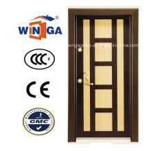 Dekorative Rahmen MDF gepanzerte Sicherheit Stahl Holz Türen (W-T07)
