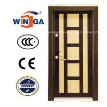 Painel decorativo MDF Armored Security Steel Wood Doors (W-T07)