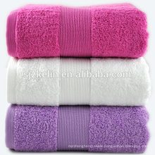 dobby border purple bath towels