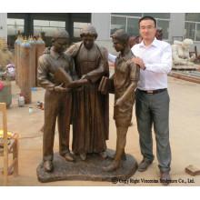 Life Size Custom Bronze Sculpture for Memorial Mounment