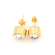 New fashion stainless steel gold stud earring base for women
