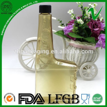 Eco-friendly recycling customized empty PVC chemical square bottle for petrol