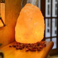 Salt Lamp with Genuine Neem Wood Base