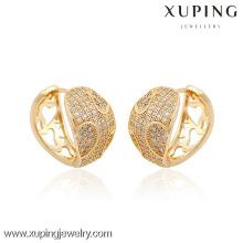 90389- Pendiente caliente de la venta de la manera de la joyería de Xuping con el oro 18K plateado