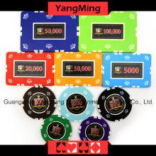 Ensemble de jetons de poker Crown Clay (760PCS) Ym-Sghg002