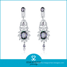 Delicate Costume Silver CZ Jewelry Drop Earring (SH-0139E)
