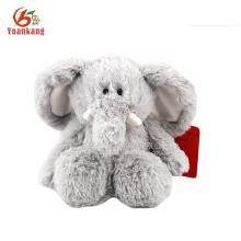 Enchido 25cm cinza grande orelhas brinquedo de elefante de pelúcia para crianças