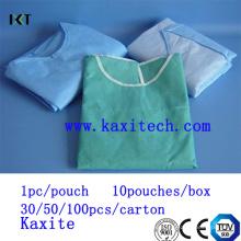 Vendaje médico del vestido quirúrgico del aislamiento del cirujano para el hospital Kxt-Sg06