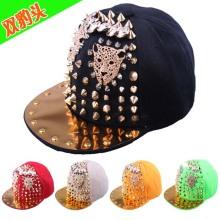 Personalizado nuevo cráneo a mano hiphop punk rap bailarín snapback sombrero del casquillo