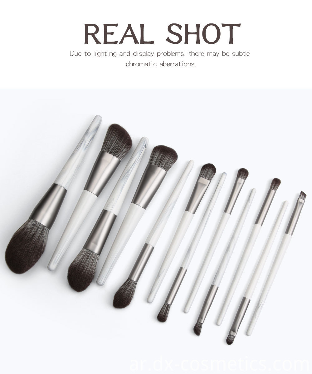12 Piece Bunch Flower Makeup Brushes detail
