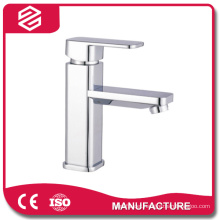 brushed single handle stainless steel basin faucet