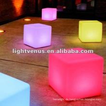 40 cm RGB Farbwechsel Nachtclub, Party LED Würfel Tisch