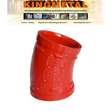 """22.5 FM / UL Approved 2"""" Ductile Iron Grooved Coupling Elbows."""