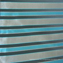 Jacquard Strip Design Cojín de tela en color azul