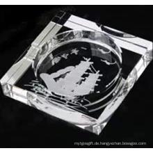 New Desgn tief eingraviert für Dekoration oder Geschenk Crystal Cigar Aschenbecher