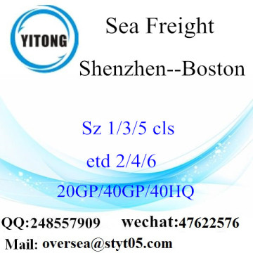 Shenzhen Port Mer Fret maritime à Boston