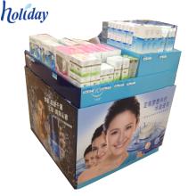 Présentoir fait sur commande de poubelle de carton fait sur commande d'usine pour la promotion, présentoir de la publicité de carton pour la meilleure vente Produits