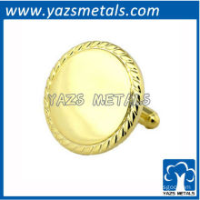 Customize Shiny Gold Cufflink with Person Design