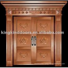 luxury copper door villa door exterior door double door KK-716