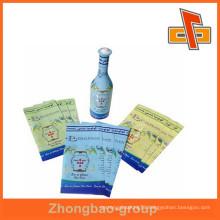 Soft material plastic PET heat shrink custom printed label for bottle packing