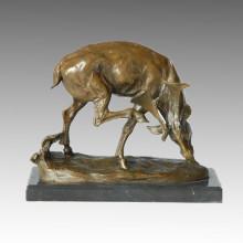 Tier Hirsch Statue Karibu Bronze Skulptur, Milo Tpal-131