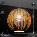 2017 New Product Golden Hollow Pendant Light with Restaurant