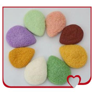 Wholsale 100% Natural Konjac Sponge Water-Drop Shaped Beauty Face Cleaning Sponge