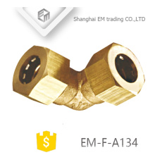 EM-F-A134 Conector rápido de latón Accesorio de codo de 90 grados