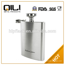 New Whiskey Alcohol Pocket Flask 8oz with Funnel Stainless Steel Hip Liquor