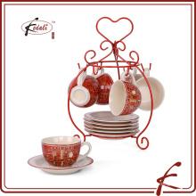 4 OZ nuevo diseño de café de cerámica soporte de la taza