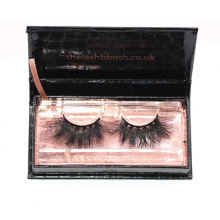 7D95 Hitomi custom lash box Fashionable 3d Mink Eyelashes paper eyelash packaging 3d real mink eyelash