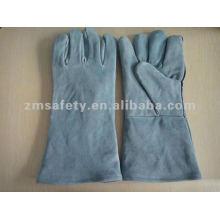 Light Blue Cow Split Leather Welding Glove ZMH02