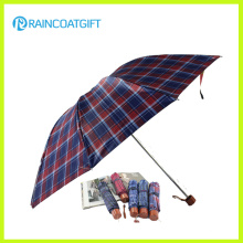 Promotional Aluminum Auto Open Close Windproof 3 Fold Umbrella with Pouch