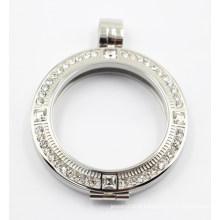 Plate-forme flottante en argent gravé pour collier pendentif