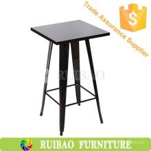 Cadeira e mesa de metal para móveis comerciais
