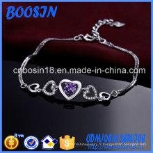 Bracelet chaîne en argent sterling 925 exquis personnalisé