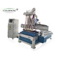 1300 * 2500mm pneumatique atc 4 broche routeur cnc bois machine de découpe prix