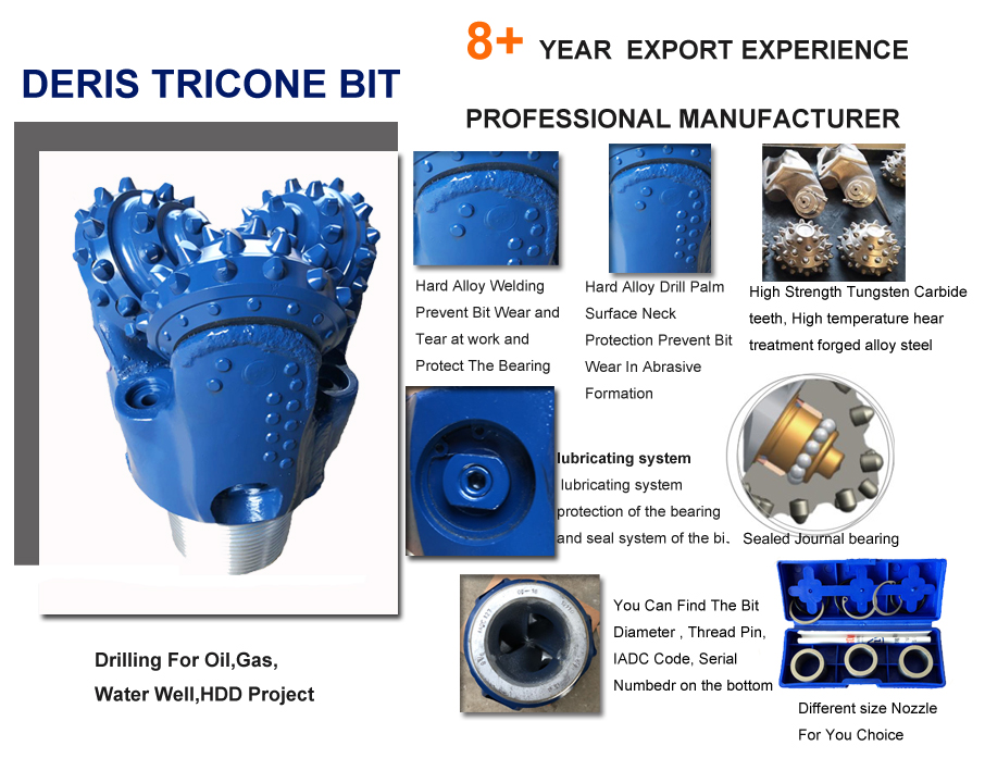 tci tricone bit for oil drilling well