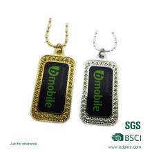 Customized Imitation Diamond Accessory Sticker Dog Tag