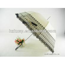 Elegant Ladies Walking Stick Large White Umbrella