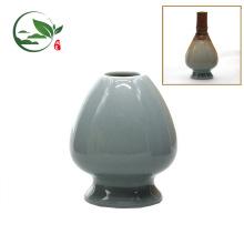 Juego de cerámica de cerámica Matcha Whisk Chasen, Bamboo Whisk Holder