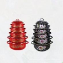 Enamel Casserole Set/Kitchenware Wholesale Cookware Set