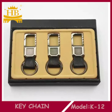 Promotion Leather+Metal Hot Selling Car Keychain