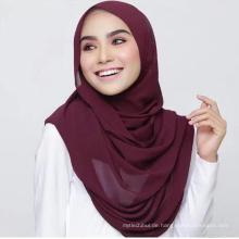 Dubai heißer Großhandel unter Blase Schal benutzerdefinierte Seide Dubai Kopf Frauen muslimischen Schal Hijab